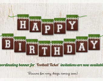 FOOTBALL BANNER, Football Party, Football Printable, Football Birthday Banners, Sports Party Decor, Sports Baby Shower, Football Decorations