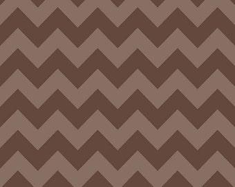 Medium Chevron Tone on Tone Brown by Riley Blake Designs Half  Yard cut