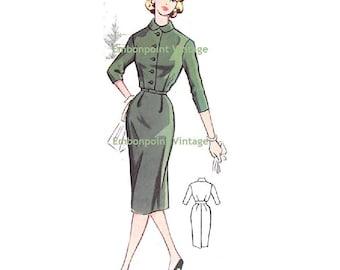 Plus Size (or any size) Vintage 1950s Dress Pattern - PDF - Pattern No 56 Robin