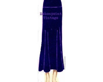 Plus Size Pattern (or any size) Vintage 1934 Skirt - PDF - Pattern No  99 Lenore