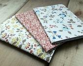 Handmade Mini Notebooks - Set of 3 Patterns - Field Journal - Jotter - Art Journal - Blank - Sketchbook - 3.5x5 - Pocket