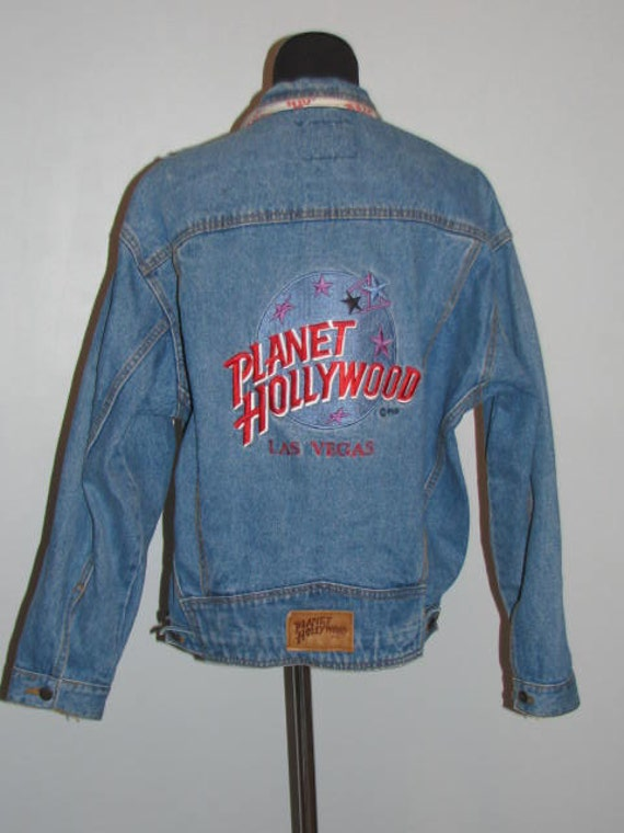 PLANET HOLLYWOOD Jean Jacket // Vintage 90's DEMIN Size M