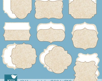 SALE Texture Vintage Tags - Digital Clipart / Scrapbooking card design, invitations, paper crafts, web design - INSTANT DOWNLOAD