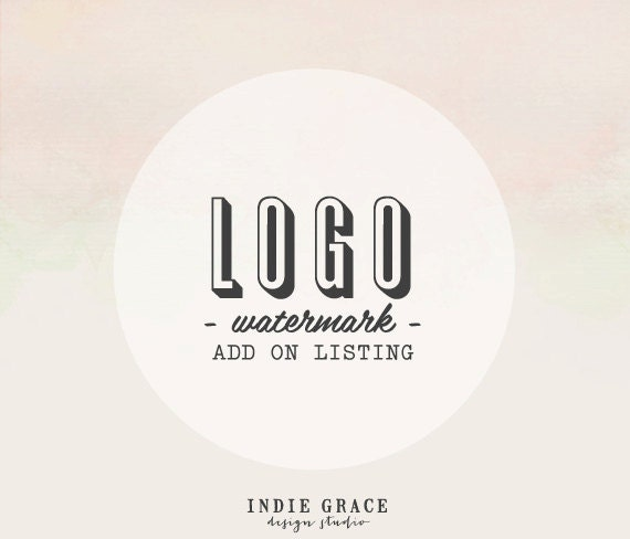 Watermark files of your logo - logo add on purchase - or made from your existing logo