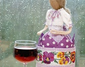 "Burlap Napkin Doll ""Louisa"""