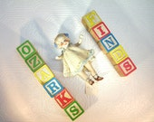 Vintage Bisque Doll Made in Japan Repair Parts Altered Art Jewelry Mixed Media Assemblage Prop 5 and one half inches long Girl SALE