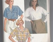 Butterick Sewing Pattern 3072 Misses shirts. Size 14,16,18