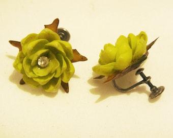 1950s Shell Earrings