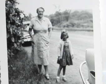 I Love My Grandma and She Loves Me.....1950's Snapshot...Free Shipping