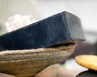 Bamboo Activated Charcoal Soap, Black Soap, Handmade Soap, Detox Soap, Facial Soap, unisex, for men, 4oz.