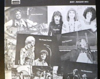 vintage magazine ... BMI The MUSIC Scene Mag cover Hot CONCERTS of 1972  ...