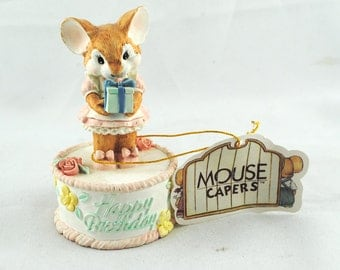 FREE SHIPPING SALE 1980's 1980s San Francisco Music Box Co. Happy Birthday Mouse Caper