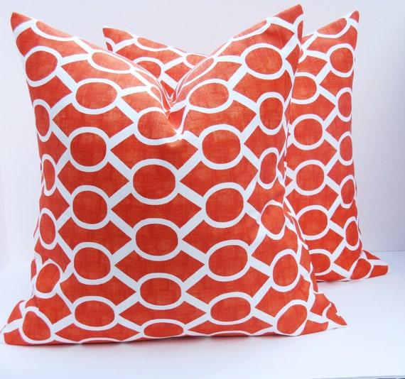 Orange Decorative Bed Pillows : Decorative Throw Pillows .Orange Pillows Pillow covers Toss