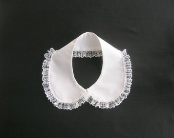 White Lace Collar Necklace, Peter Pan Necklace, Lace Necklace, Mothers Day Gift, Nuray