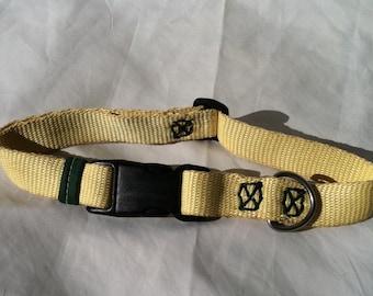 Kevlar Dog Collar, Adjustable dog Collar, Recycled Kevlar, Eco friendly pet, upcycled dog collar, Eco dog, eco pet