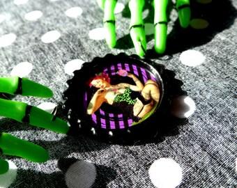 SALE Cupcake Zombie Skeleton Hand Necklace