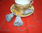 Tiny mouse with your Cat's name on it - with or without catnip
