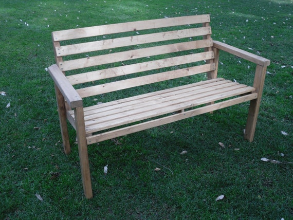 DIY - PLANS to make - Patio Bench - Outdoor Furniture for Patio Lawn ...