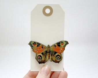 Butterfly Wooden Brooch