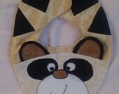 Raccoon baby bib