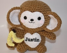 Amigurumi Monkey - Handmade Crochet Baby Animal Toy