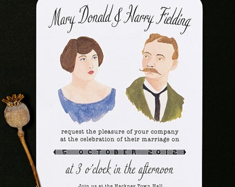 Personalised Portrait Wedding Invitations