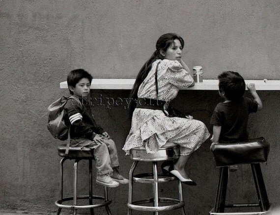Los Angeles Street Photography - On Broadway 1990