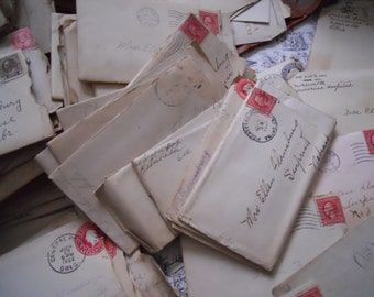 Bundle of Very Antique Flausburg Family Letters Antique Handwritten Correspondence 1890-1920s