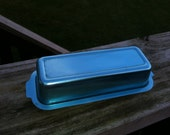 turquoise aluminum butter tray