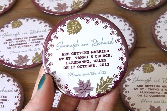 AUTUMN design - Save the Date Magnets x 40
