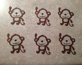 Monkey Die cuts (set of 6)