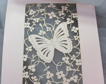 Garden Butterfly - Custom Invitations - Bridal Showers - Baby Shower Invitations -  Special Events -