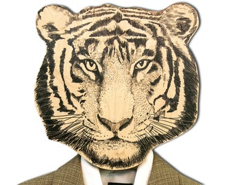 Unique hook - hanger - mask - Tiger - a decorative article for your creative home or office