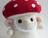 RESERVED FOR CINDI Toadstool Troll 'Kami', Crochet Mushroom