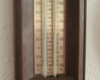 Vintage Wall Wood Look Thermostat