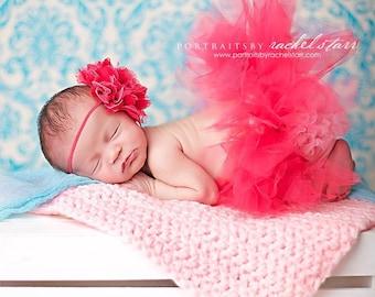 Newborn Tutu, Baby Tutu, Tutu, Tutu Set, Newborn Tutu Set, Hot Pink Tutu, Photo Prop, Cute Tutu Set
