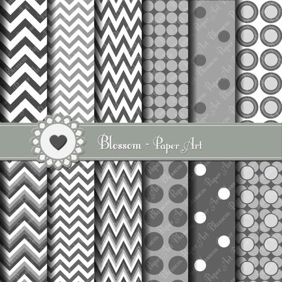 Papeles decorativos gris rayado y puntos en gris papeles - Papeles decorativos pared ...