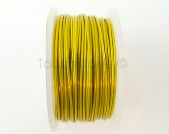 Lemon Artistic Wire 22 Gauge 8 Yards Colored Copper Wire