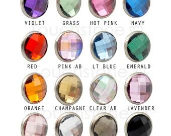 5mm Crystal Rivets 10 Pack - You Choose Color #378