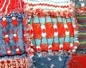 Quilt, Adult Teen or Child's Rag Blanket - Bunny Rabbits