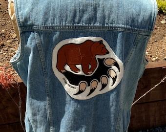 Bear Claw Denim Vest