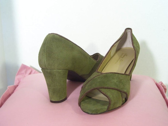 clearance sale 20 s shoes green high heels
