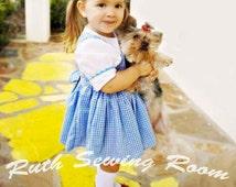 Dorothy Dress,  Wiazrds of OZ Dress, Dorothy Costume, Pretend Dress, School Play, Halloween Birthday Party Dress