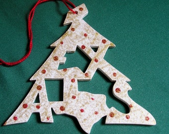 Texas ornament, tree shaped