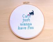 Cross Stitch Pattern Cats just wanna have fun - Embroidery Patterns,cross stitch chart, Cross Stitch, Cat Cross Stitch- Instant Download