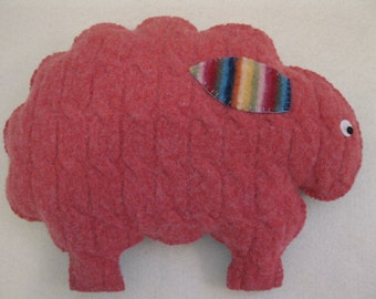 Felted Sheep Animal Pillow