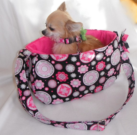 Sparkly pet sling carrier for dogs up to approx 6 lb - Pattern for dog carrier sling ...
