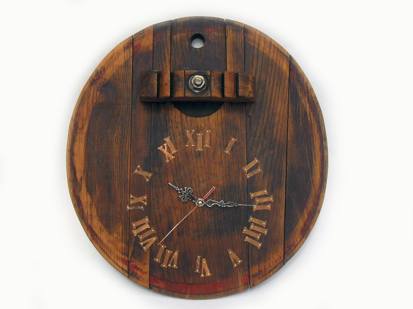 17 39 39 Rustic Wall Clock Unique Big Wall By Thirdcloudtotheleft