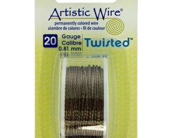20ga Artistic Wire Twisted Gun Metal In Color NonTarnish Wire 9 Foot SALE