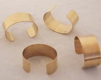 Brass Bracelet Cuff Blanks For Jewelry Making 1 inch Pkg Of 4